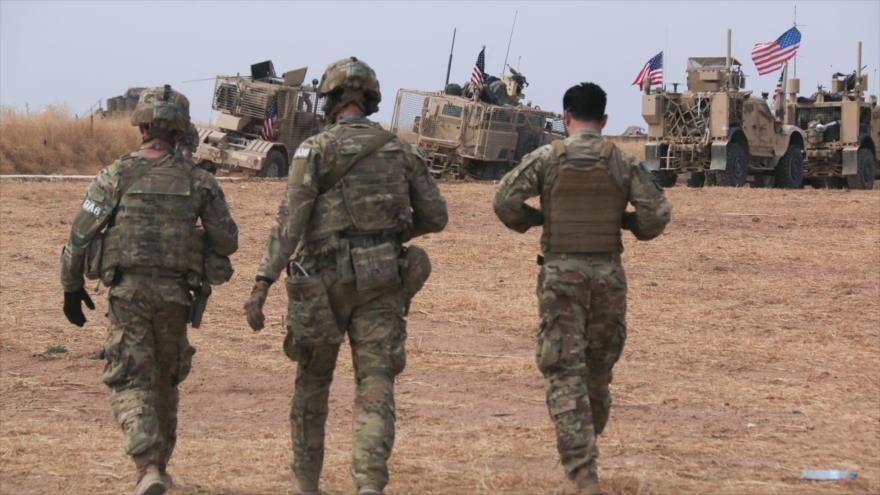 Un convoy militar de EE.UU. en el norte de Siria.