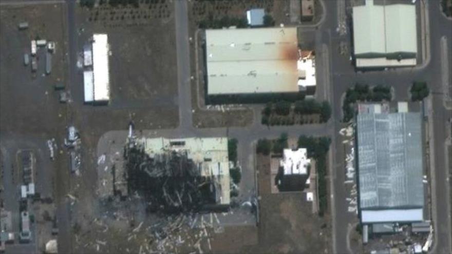 Una imagen satelital del incidente en la instalación nuclear de Natanz en el centro de Irán, 2 de julio de 2020. (Foto: Reuters)