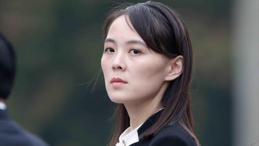 Kim Yo-jong, la hermana menor del líder de Corea del Norte, Kim Jong-un.