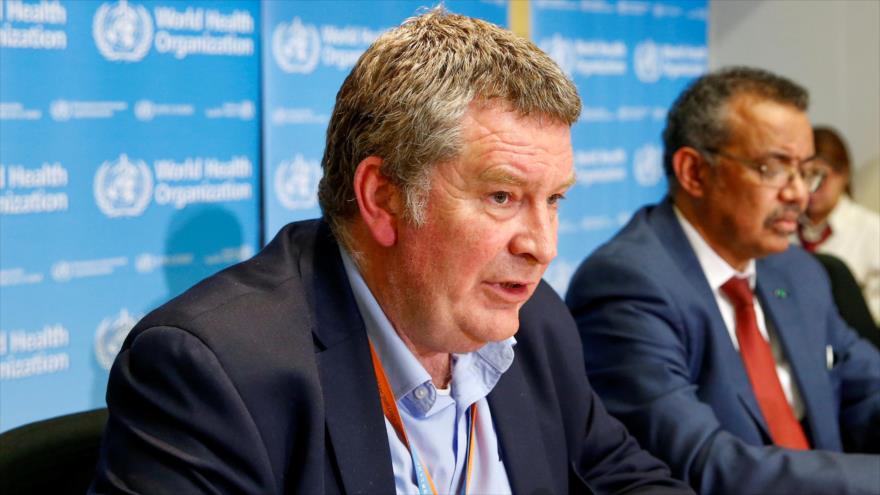 El director de Emergencias Sanitarias de la Organización Mundial de la Salud (OMS), Mike Ryan, ofrece una rueda de prensa.
