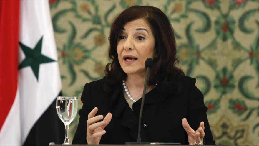 Buzaina Shaaban, la principal asesora del presidente sirio, Bashar al-Asad.