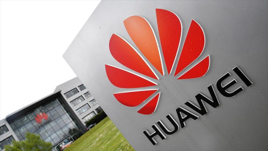 Oficina de la empresa china Huawei en la ciudad de Reading, el Reino Unido.
