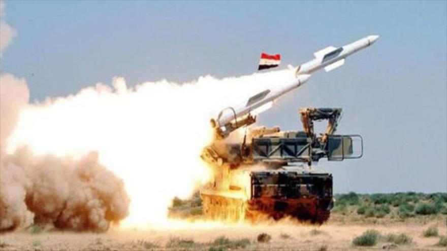 Un sistema antiaéreo del Ejército de Siria durante una operación militar.