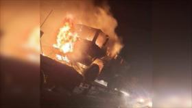 Vídeo: Atacan un convoy de suministros bélicos de EEUU en Irak