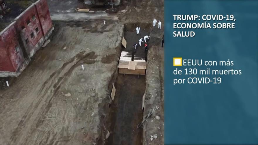 PoliMedios: Trump; COVID-19, economía sobre salud