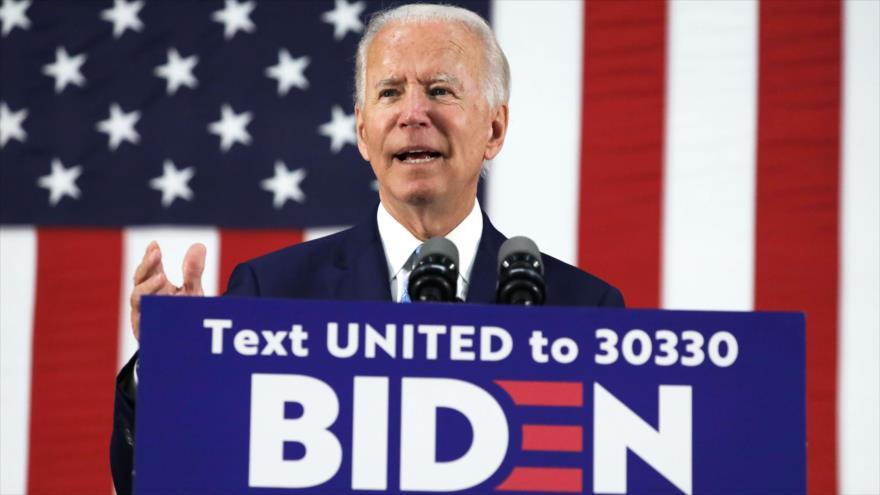 El candidato demócrata a la Presidencia de EE.UU., Joe Biden, durante un evento de campaña en Delaware, 30 de junio de 2020. (Foto: AFP)