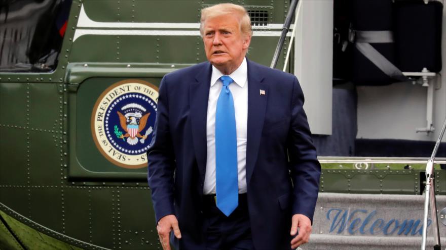El presidente de EE.UU., Donald Trump, llega a la Casa Blanca, en Washington, 11 de julio de 2020. (Foto: Reuters)
