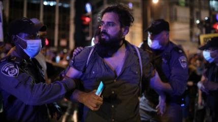 Policía israelí reprime protesta frente a residencia de Netanyahu