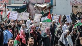 Palestinos protestan en Al-Quds contra anexión de Cisjordania