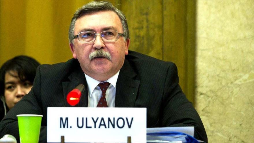 El representante permanente de Rusia ante las organizaciones internacionales con sede en Viena (Austria), Mijail Ulyanov.
