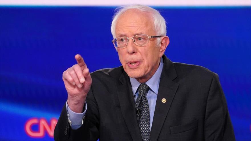 El senador demócrata y precandidato presidencial Bernie Sanders en una rueda de prensa en Washington (la capital), 15 de marzo de 2020. (Foto: Reuters)