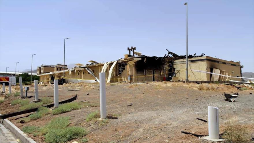 El lugar del incidente en la instalación nuclear de Natanz, en el centro de Irán, 2 de julio de 2020. (Foto: aeoi.org.ir)