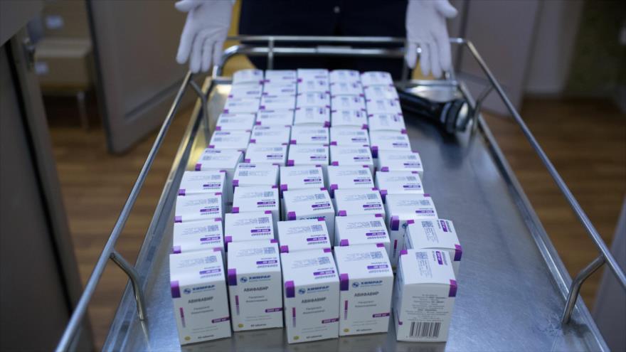 Fármaco antiviral Avifavir, producido por Rusia.