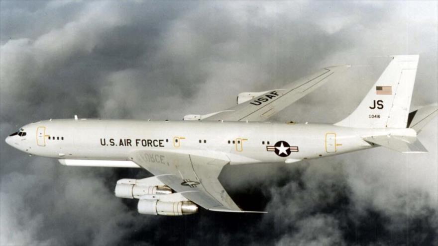 Un avión E-8C de la Fuerza Aérea de Estados Unidos.