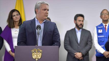 Denuncian en Colombia incapacidad política del presidente Duque