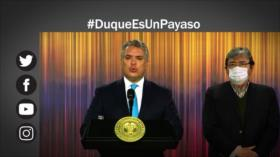 Etiquetaje: Internautas critican a Iván Duque, llaman al presidente payaso