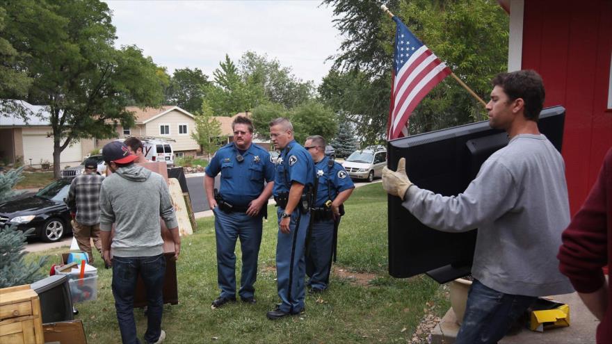 Una escena de desalojo forzado en EE.UU.