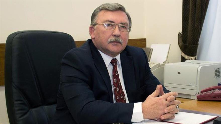 El representante permanente de Rusia ante las organizaciones internacionales con sede en Viena, Mijail Uliánov.