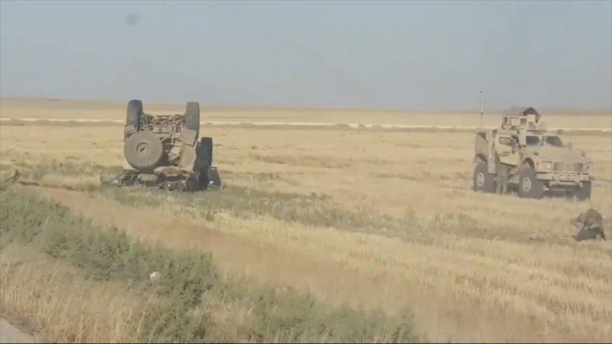 Vídeo: Muere un soldado de EEUU en Siria al volcarse su blindado | HISPANTV