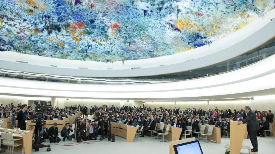Una sesión del Consejo de Derechos Humanos de las Naciones Unidas.
