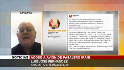 José Fernández: Acoso a avión iraní es otra provocación de EEUU