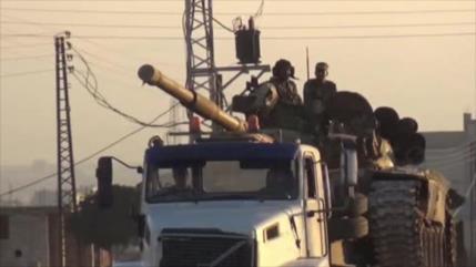 Vean al mayor convoy del Ejército sirio que sale rumbo a Idlib