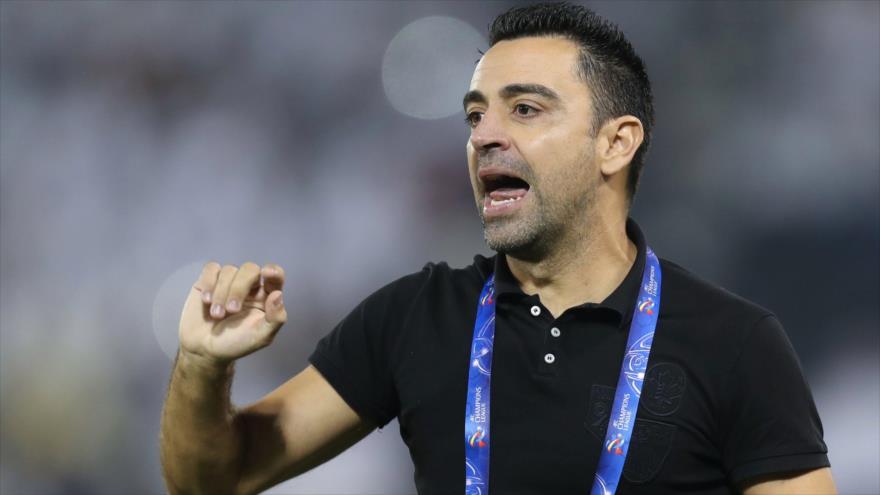 El exfutbolista del Barça y actual entrenador del equipo Al-Sadd Doha (Catar) durante un partido en la capital catarí, 16 de septiembre de 2019. (Foto: AFP)
