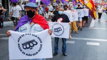 Protestan en España contra la monarquía corrupta y antidemocrática