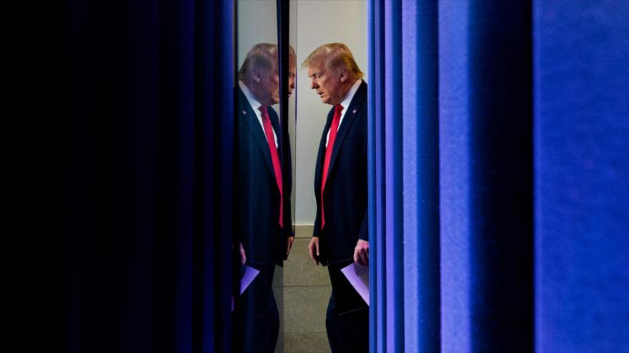 El presidente de EE.UU., Donald Trump, en la Casa Blanca, 2 de julio de 2020. (Foto: AFP)
