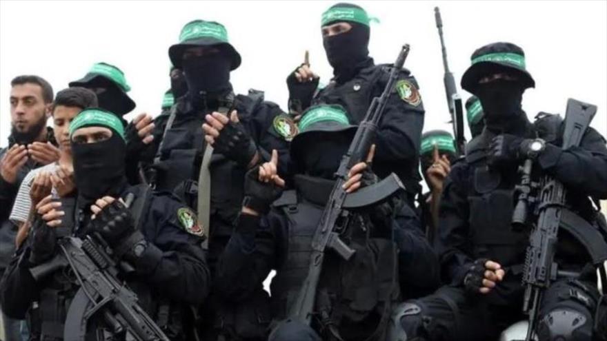 Integrantes del Movimiento de Resistencia Islámica de Palestina (HAMAS) en un funeral en Gaza, 6 de mayo de 2018. (Foto: Reuters)