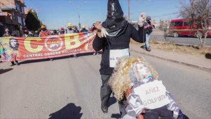 Fuera Áñez; así bolivianos exigen elecciones en septiembre
