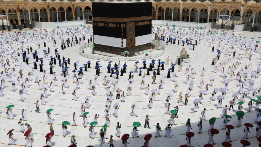 Peregrinos inician los rituales de Hach, La Meca, 29 de julio de 2020. (Foto: Reuters)