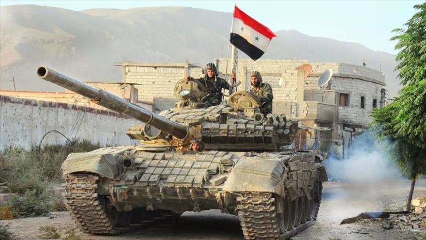 Soldados sirios desplegados en la provincia noroccidental de Idlib.