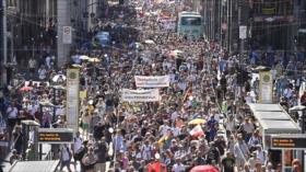 Vídeo: alemanes se manifiestan contra restricciones por COVID-19