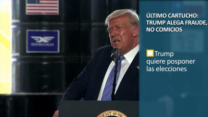 PoliMedios: Último cartucho; Trump alega fraude, no comicios