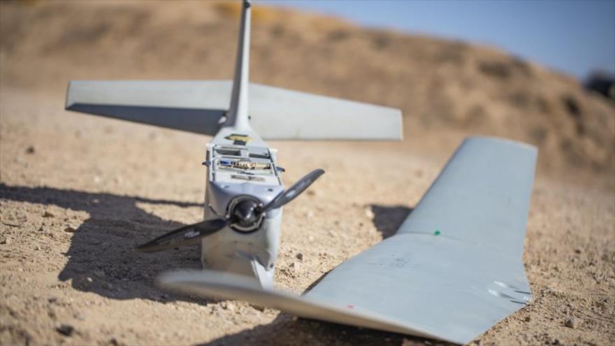 Un dron RQ-20 estadounidense en la base 29 Palms, California, 31 de julio de 2019.