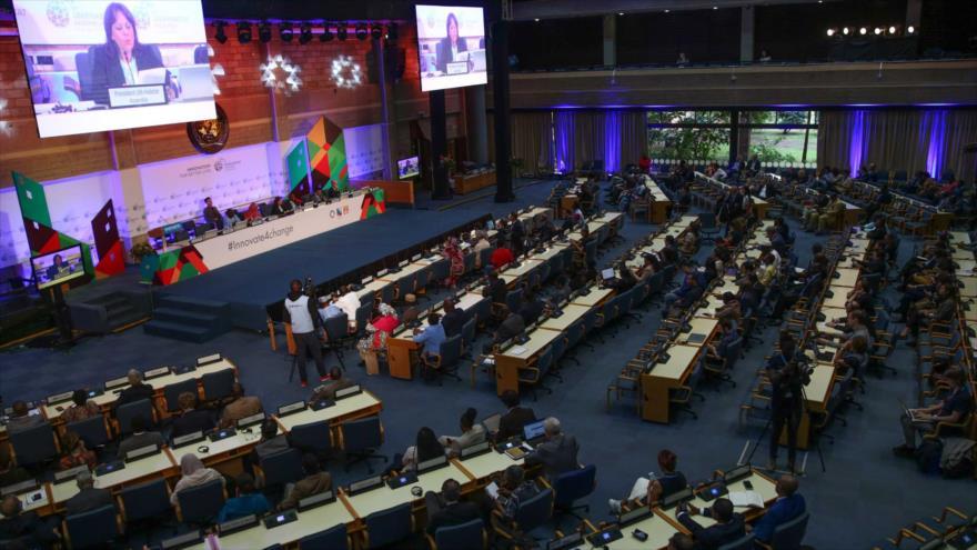 Una sesión del Consejo Ejecutivo del Programa de las Naciones Unidas (ONU-Hábitat).