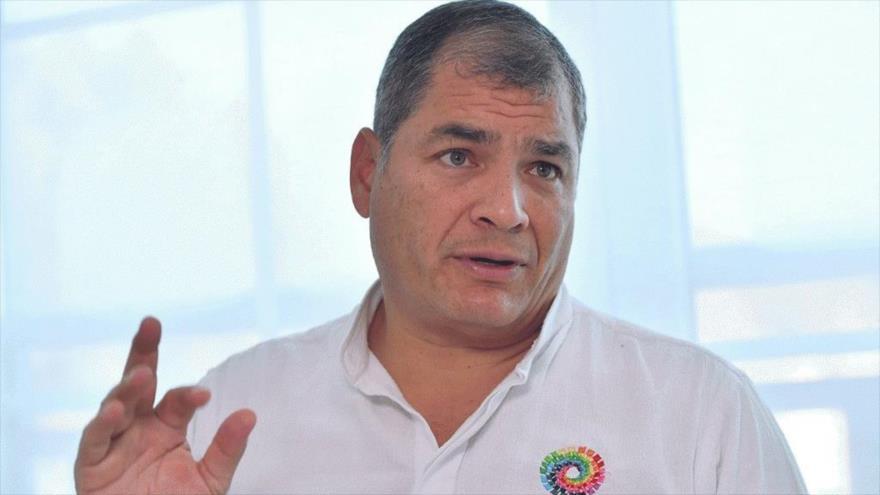 El expresidente ecuatoriano Rafael Correa ofrece una entrevista a la agencia francesa AFP en Bélgica, 8 de noviembre de 2018.