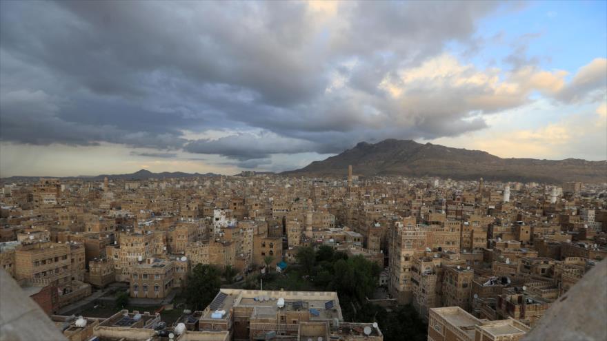 Vista general del barrio histórico de Saná, capital yemení, que está incluida en la lista de sitios del patrimonio mundial por la Unesco, 21 de abril de 2020. (Foto: AFP)