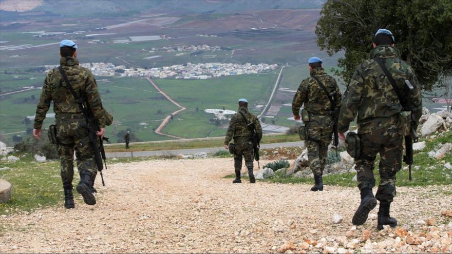 Miembros de la Fuerza Provisional de las Naciones Unidas para El Líbano (FPNUL) en las granjas de Shebaa, febrero de 2015. (Foto: AP)