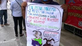 Trabajadores hondureños denuncian falta de pago de sus salarios