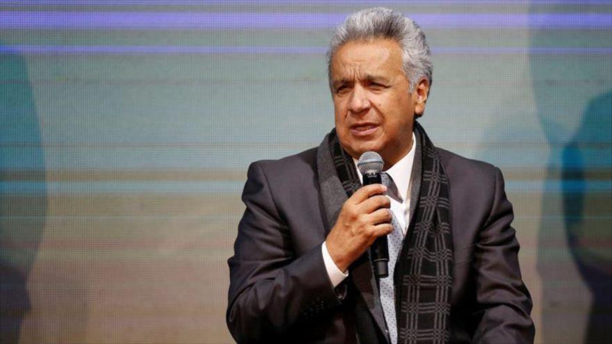 El presidente de Ecuador, Lenín Moreno, en un evento en Quito, 13 de enero de 2020. (Foto: Reuters)