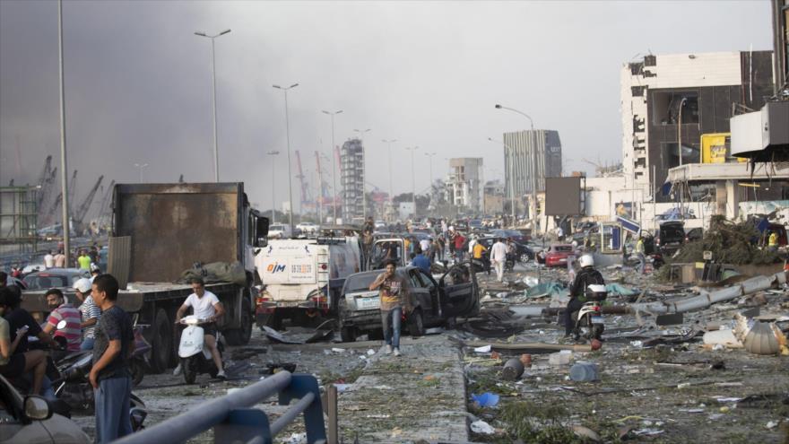 Explosiones en puerto de Beirut dejan al menos 300 000 desplazados | HISPANTV