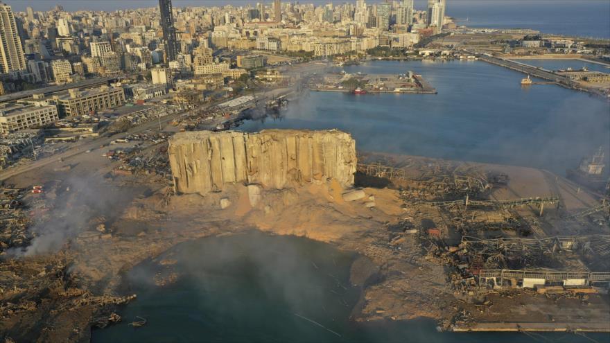Imagen aérea muestra impacto devastador de explosiones en Beirut | HISPANTV