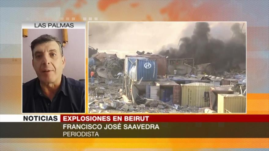 José Saavedra: Negligencia puede ser causa de explosiones en Beirut
