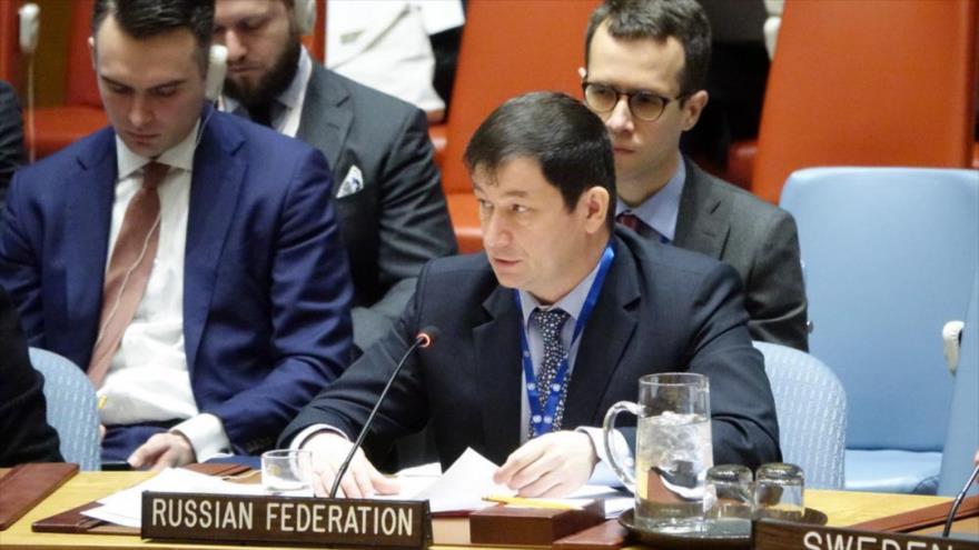 Dmitri Polianski, el representante adjunto de Rusia ante las Naciones Unidas.
