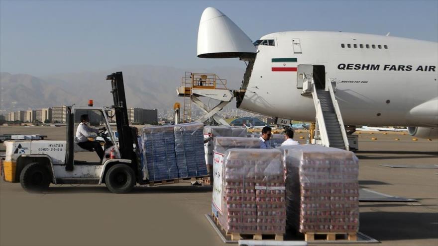 El segundo avión iraní con ayuda humanitaria aterriza en Beirut | HISPANTV