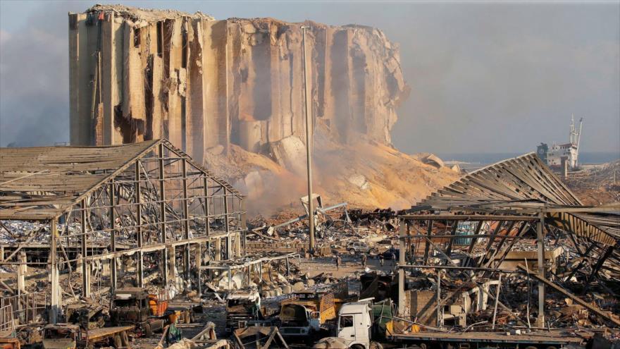 Vista general de daños causados por las explosiones que sacudieron puerto de Beirut, capital libanesa, 5 de agosto de 2020. (Foto: Reuters)