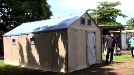 ONU instala viviendas temporales para migrantes en el sur de México