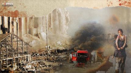 Beirut, sangre y fuego: Vi gente volando por el aire